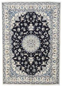 나인 러그 166X234 정품 오리엔탈 수제 라이트 그레이/베이지 (울, 페르시아/이란)