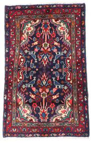 Asadabad Covor 56X90 Orientale Lucrat Manual Negru/Mov Închis (Lână, Persia/Iran)