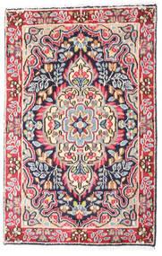 Kerman Teppich  58X90 Echter Orientalischer Handgeknüpfter Dunkelgrau/Rost/Rot (Wolle, Persien/Iran)
