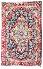 Kerman Teppe 58X90 Ekte Orientalsk Håndknyttet Mørk Grå/Rust (Ull, Persia/Iran)