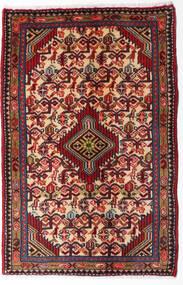 Asadabad Covor 62X96 Orientale Lucrat Manual Roșu-Închis/Maro Închis (Lână, Persia/Iran)