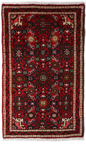 Asadabad Rug 56X92 Authentic  Oriental Handknotted Dark Red (Wool, Persia/Iran)