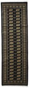 Pakistan Bokhara 2Ply Teppe 78X247 Ekte Orientalsk Håndknyttet Teppeløpere Mørk Grå (Ull, Pakistan)
