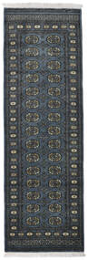 Pakistan Bokhara 2Ply Rug 80X250 Authentic  Oriental Handknotted Hallway Runner  Dark Grey/Dark Blue (Wool, Pakistan)