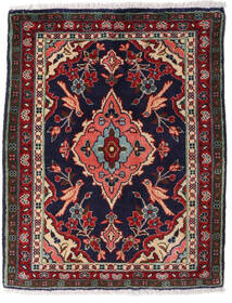 Asadabad Tæppe 65X82 Ægte Orientalsk Håndknyttet Sort/Mørkebrun (Uld, Persien/Iran)