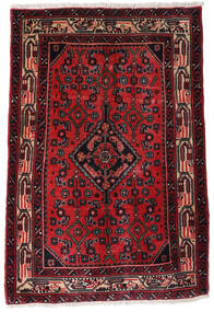 Asadabad Rug 65X96 Authentic  Oriental Handknotted Dark Red (Wool, Persia/Iran)