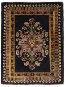 Keshan Teppich  65X87 Echter Orientalischer Handgeknüpfter Dunkelrot/Hellbraun (Wolle, Persien/Iran)
