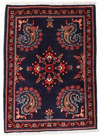 Asadabad Vloerkleed 67X88 Echt Oosters Handgeknoopt Zwart/Donkerrood (Wol, Perzië/Iran)