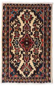 Asadabad Covor 54X83 Orientale Lucrat Manual Negru/Maro Închis (Lână, Persia/Iran)