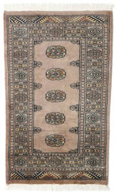 Pakistan Bokhara 2Ply Rug 78X129 Authentic  Oriental Handknotted Light Grey/Brown (Wool, Pakistan)