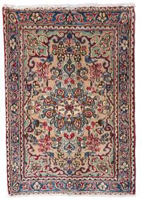 Kerman Tæppe 60X86 Ægte Orientalsk Håndknyttet Mørkegrå/Mørkerød (Uld, Persien/Iran)