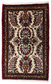 Asadabad Teppe 64X103 Ekte Orientalsk Håndknyttet Mørk Brun/Mørk Rød (Ull, Persia/Iran)