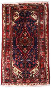 Asadabad Χαλι 67X116 Ανατολής Χειροποιητο Σκούρο Κόκκινο/Σκούρο Μπλε (Μαλλί, Περσικά/Ιρανικά)