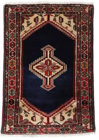 Asadabad Tæppe 58X85 Ægte Orientalsk Håndknyttet Mørkerød/Mørkebrun (Uld, Persien/Iran)