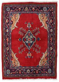Sarough Teppich  70X95 Echter Orientalischer Handgeknüpfter Rot/Dunkelrot (Wolle, Persien/Iran)