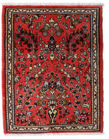 Sarough Teppich  65X81 Echter Orientalischer Handgeknüpfter Dunkelrot/Rost/Rot (Wolle, Persien/Iran)