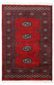 Pakistan Bokhara 2Ply Teppe 79X118 Ekte Orientalsk Håndknyttet Mørk Rød/Rød (Ull, Pakistan)