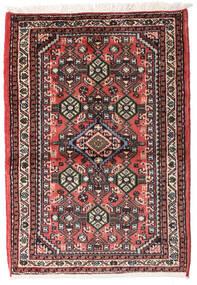 Hamadan Teppich 60X88 Echter Orientalischer Handgeknüpfter Schwartz/Dunkelbraun (Wolle, Persien/Iran)