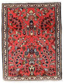 Sarough Teppe 61X80 Ekte Orientalsk Håndknyttet Mørk Brun/Rød (Ull, Persia/Iran)