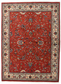 Sarough Sherkat Farsh Matta 146X196 Äkta Orientalisk Handknuten Mörkröd/Mörkbrun (Ull, Persien/Iran)