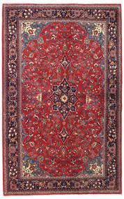 Sarough Sherkat Farsh Tapete 139X194 Oriental Feito A Mão Vermelho Escuro/Porpora Escuro (Lã, Pérsia/Irão)