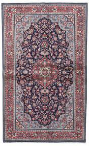 Sarough Sherkat Farsh Tæppe 130X208 Ægte Orientalsk Håndknyttet Mørkelilla/Lysegrå (Uld, Persien/Iran)