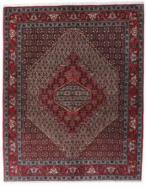 Senneh Tapete 123X154 Oriental Feito A Mão Vermelho Escuro/Castanho Escuro/Cinza Escuro (Lã, Pérsia/Irão)