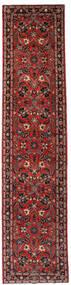 Hamadan Alfombra 73X331 Oriental Hecha A Mano Rojo Oscuro/Negro (Lana, Persia/Irán)