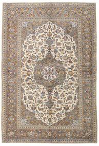 Keshan Tæppe 141X211 Ægte Orientalsk Håndknyttet Lysegrå/Beige (Uld, Persien/Iran)