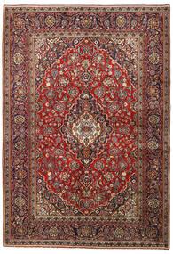 Keshan Koberec 140X203 Orientální Ručně Tkaný Tmavě Červená/Tmavě Hnědá (Vlna, Persie/Írán)