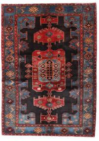 ハマダン 絨毯 137X194 オリエンタル 手織り 深紅色の/紫 (ウール, ペルシャ/イラン)