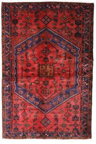 Hamadan Tæppe 130X198 Ægte Orientalsk Håndknyttet Mørkerød/Rust (Uld, Persien/Iran)