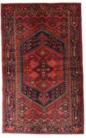 Hamadan Tæppe 125X203 Ægte Orientalsk Håndknyttet Mørkerød/Sort (Uld, Persien/Iran)