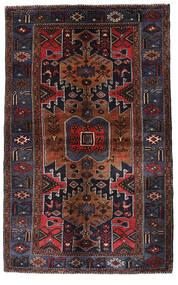 Hamadan Covor 136X217 Orientale Lucrat Manual Maro Închis/Roșu-Închis (Lână, Persia/Iran)