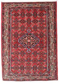 Asadabad Matta 107X162 Äkta Orientalisk Handknuten Mörkbrun/Mörkröd (Ull, Persien/Iran)