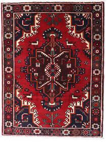 Hamadã Tapete 120X158 Oriental Feito A Mão Preto/Vermelho Escuro (Lã, Pérsia/Irão)
