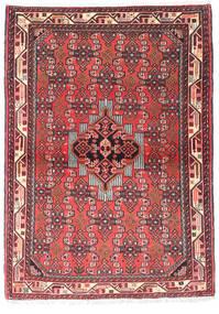 Asadabad Tæppe 104X148 Ægte Orientalsk Håndknyttet Rust/Mørkerød (Uld, Persien/Iran)