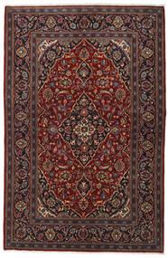Kashan Tapete 140X213 Oriental Feito A Mão Vermelho Escuro/Castanho Escuro (Lã, Pérsia/Irão)