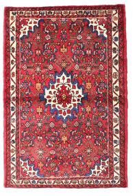 Hosseinabad Covor 105X156 Orientale Lucrat Manual Roşu/Ruginiu (Lână, Persia/Iran)