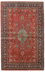 Sarough Sherkat Farsh Alfombra 135X212 Oriental Hecha A Mano Marrón Oscuro/Óxido/Roja (Lana, Persia/Irán)