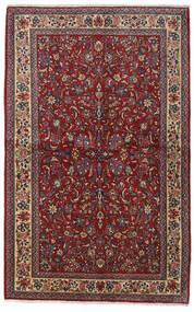Sarough Sherkat Farsh Teppich 135X212 Echter Orientalischer Handgeknüpfter Dunkelrot/Dunkelgrau (Wolle, Persien/Iran)
