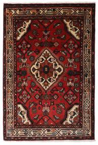 Hosseinabad Tæppe 100X150 Ægte Orientalsk Håndknyttet Mørkerød/Mørkebrun (Uld, Persien/Iran)