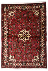 Hosseinabad Dywan 107X152 Orientalny Tkany Ręcznie Ciemnoczerwony/Jasnobrązowy (Wełna, Persja/Iran)