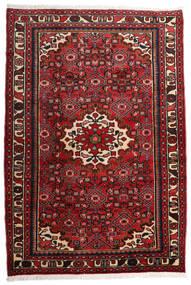 Hosseinabad Covor 109X160 Orientale Lucrat Manual Roșu-Închis/Maro Închis (Lână, Persia/Iran)