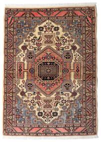Hamadan Tæppe 104X145 Ægte Orientalsk Håndknyttet Mørkerød/Mørkebrun (Uld, Persien/Iran)