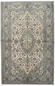 Keshan Teppich 140X218 Echter Orientalischer Handgeknüpfter Hellgrau/Dunkelgrau (Wolle, Persien/Iran)