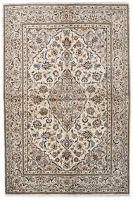 Kashan Tapis 139X211 D'orient Fait Main Beige/Gris Clair (Laine, Perse/Iran)