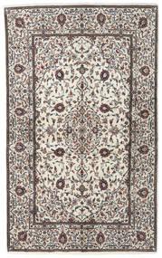 Keszan Dywan 135X220 Orientalny Tkany Ręcznie Beżowy/Jasnoszary (Wełna, Persja/Iran)