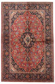Keshan Teppe 138X215 Ekte Orientalsk Håndknyttet Mørk Rød/Mørk Brun (Ull, Persia/Iran)
