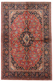 Keshan Teppich  138X215 Echter Orientalischer Handgeknüpfter Dunkelrot/Dunkelbraun (Wolle, Persien/Iran)